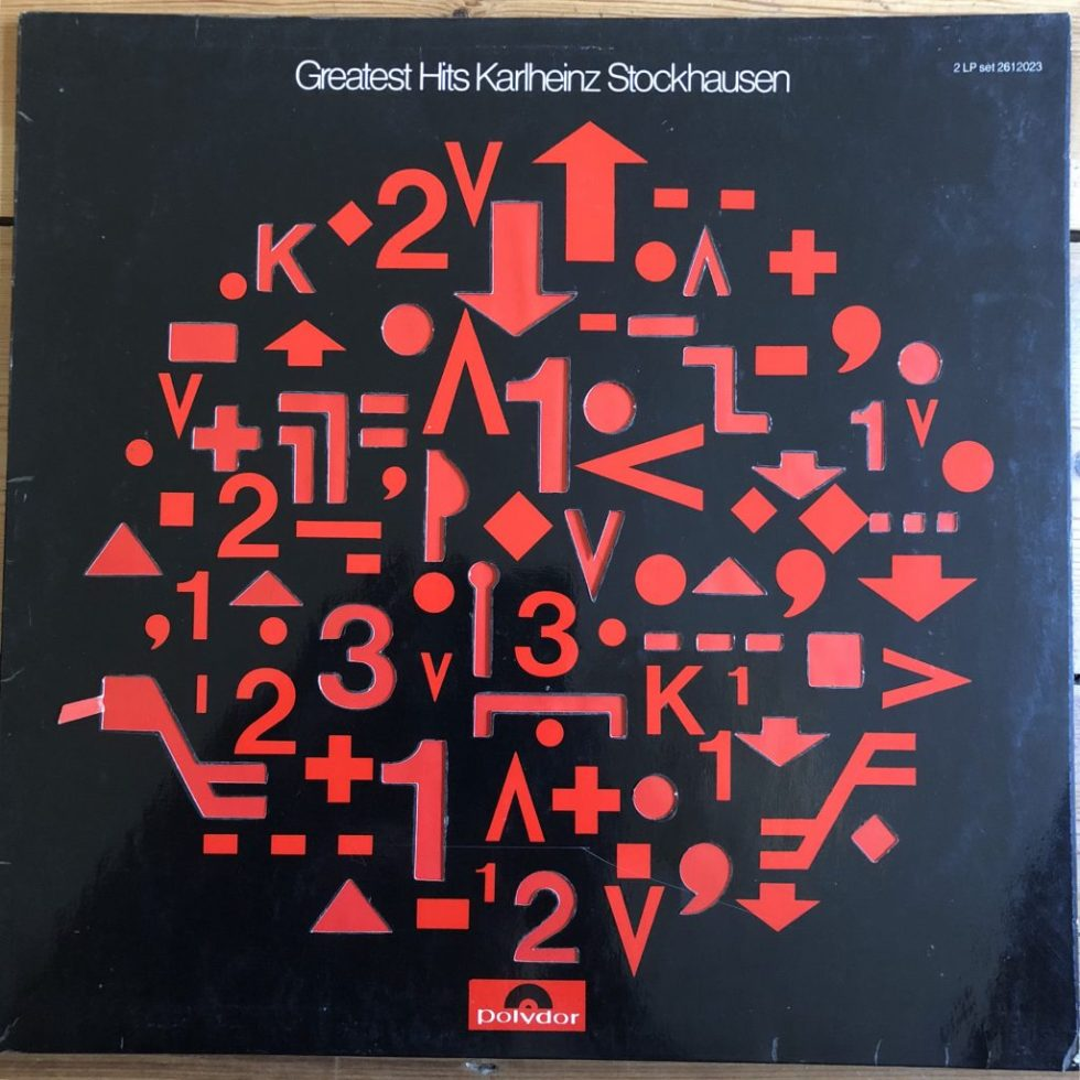 2621 023 Karlheinz Stockhausen Greatest Hits 2 LP set