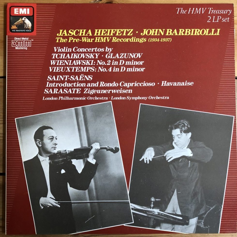 EX 7 49375 1 Heifetz / Barbirolli Pre-War HMV Recordings 2 LP set