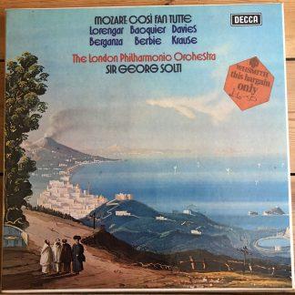 SET 575-578 Mozart Cosi Fan Tutte Lorengar Berganza LPO Sir Georg Solti 4LP box