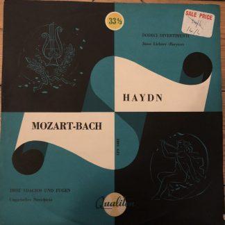 LPX 1082 Mozart-Bach / J. Haydn / Janos Liebner / Hungarian String Trio