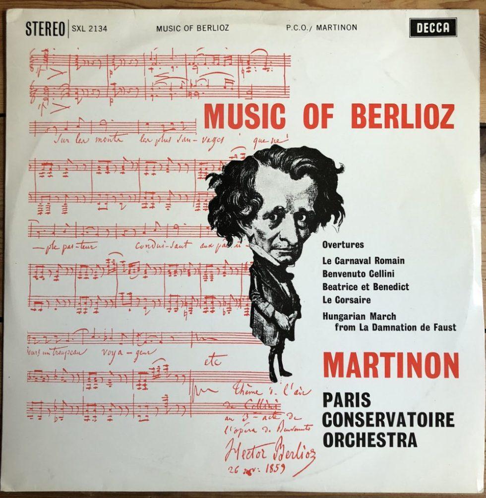 SXL 2134 Music of Berlioz / Martinon / PCO W/B