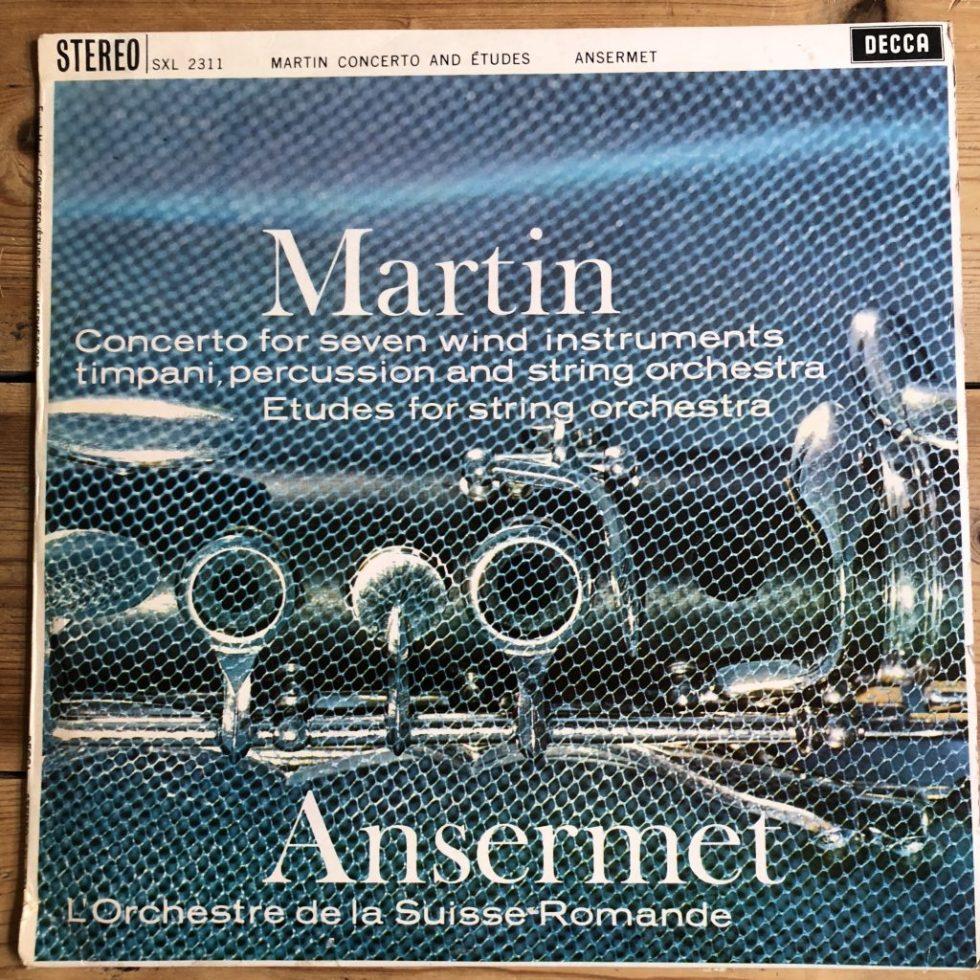 SXL 2311 Frank Martin Concerto / Etudes / Ansermet W/B