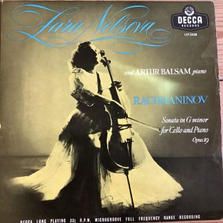 LXT 5228 Rachmaninov Cello Sonata in G minor / Nelsova / Balsam O/S