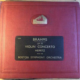 DB 8874/78 Brahms Violin Concerto / Heifetz / Koussevitsky