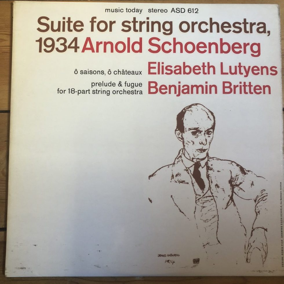 ASD 612 Schoenberg Suite for String Orchestra etc. / Del Mar S/C