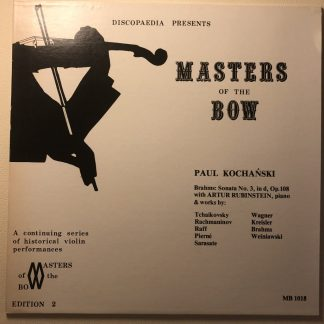 MB 1018 Master of the Bow -Paul Kochański