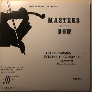MB 1031 Master of the Bow - Sophie-Carmen