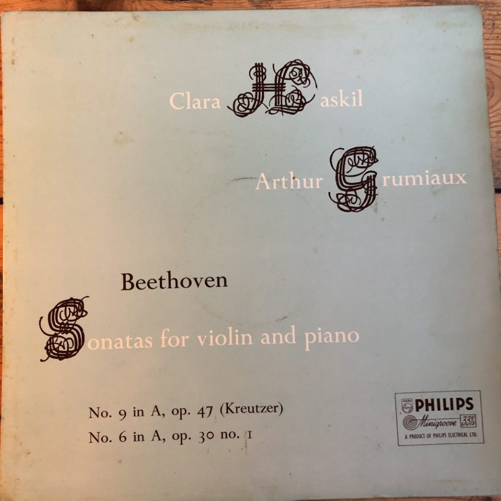ABL 3226 Beethoven Violin Sonatas Nos. 9 & 6 / Grumiaux / Haskil