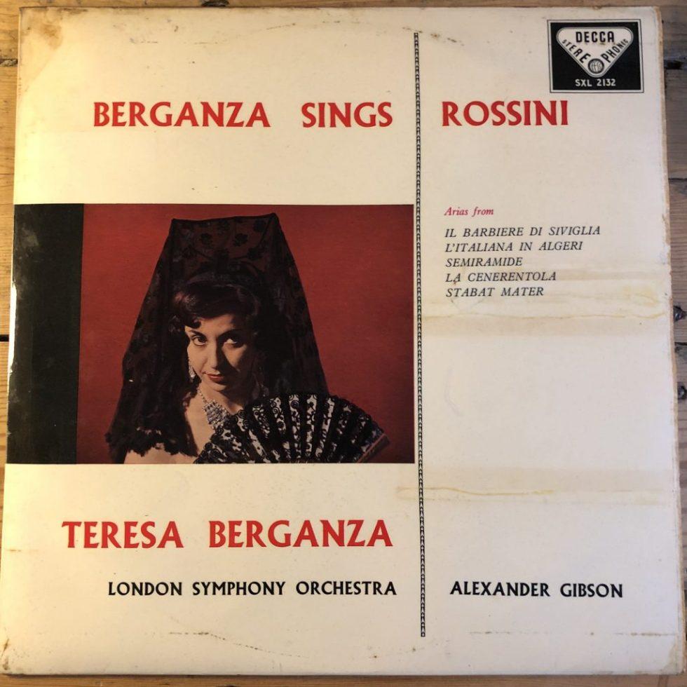 SXL 2132 Berganza Sings Rossini W/B