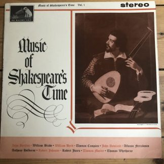 CSD 1487 Music of Shakespeare's Time