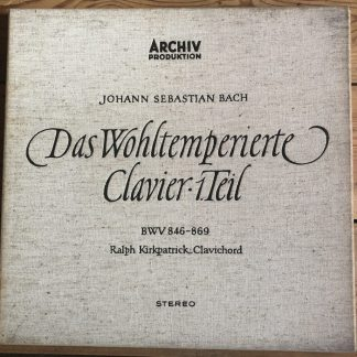 SAPM 198 311/12 Bach Well-Tempered Clavier