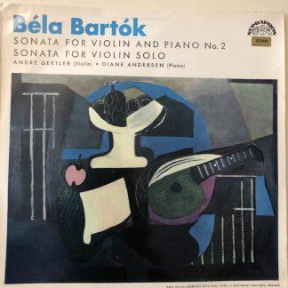 SUA ST 50481 Bartok Violin Sonata No. 1 etc. / Gertler / Andersen