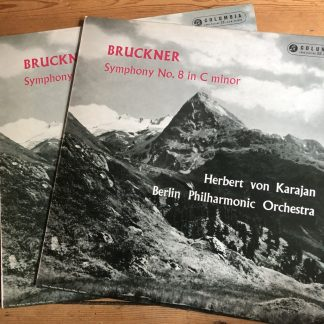 33CX 1586/87 Bruckner Symphony No. 8 / Karajan / BPO B/G 2 LP set
