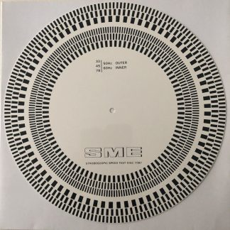 SME Stroboscopic speed test disc 1087