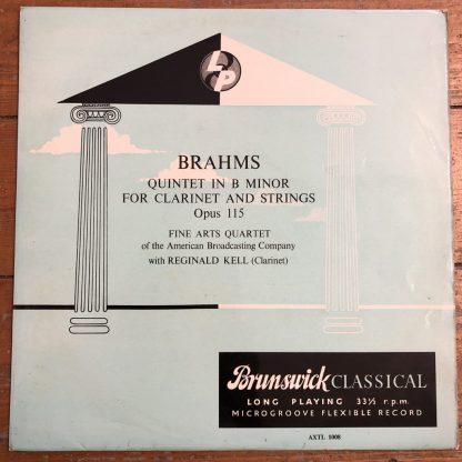 AXTL 1008 Brahms Clarinet Quintet