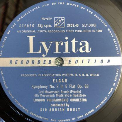 SRCS 40 Elgar Symphony No. 2 / Boult / LPO