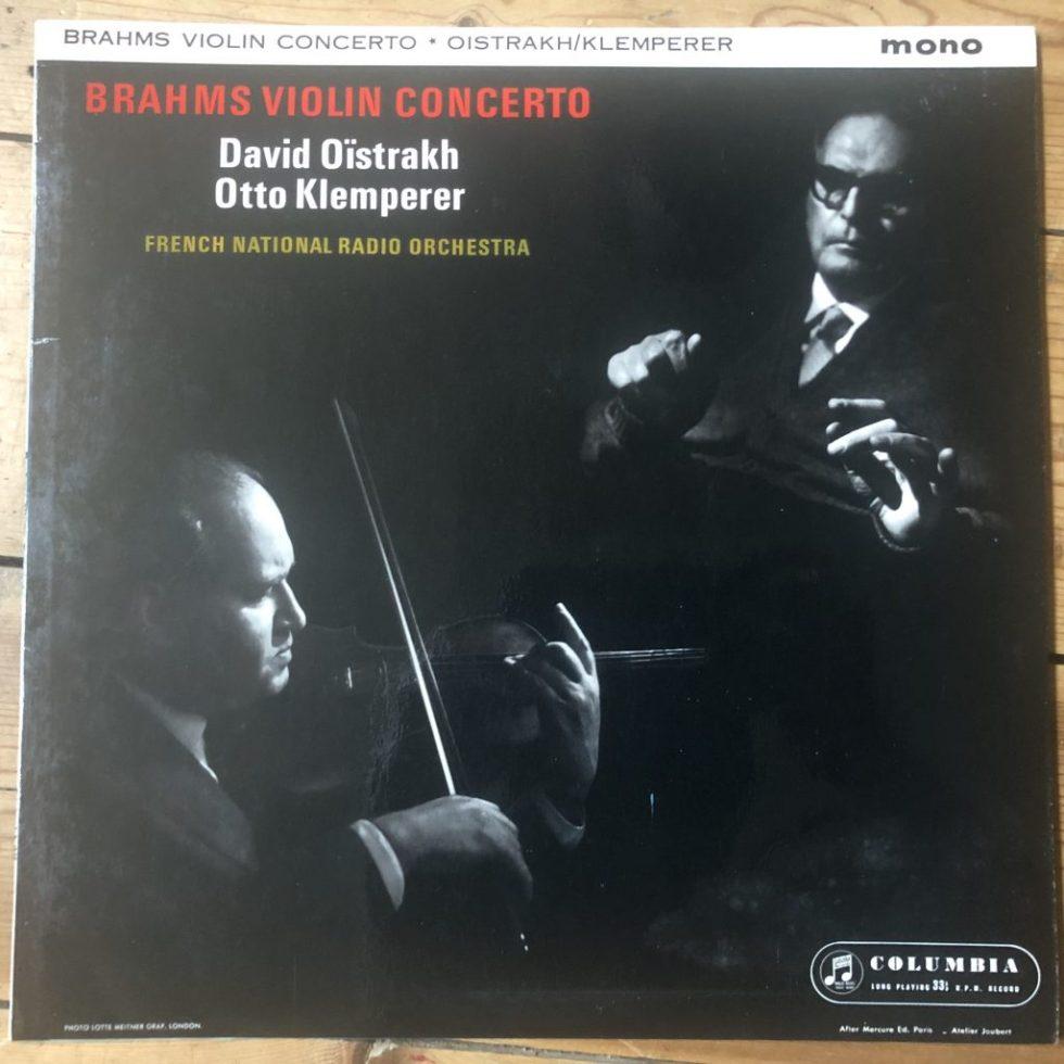 33CX 1765 Brahms Violin Concerto David Oistrakh