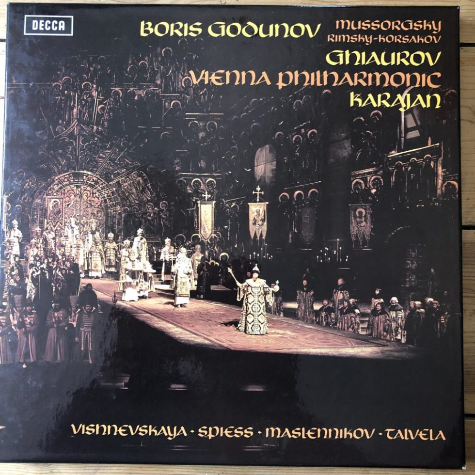 SET 514-7 Mussorgsky Boris Godunov / Karajan etc. HP LIST 4 LP box