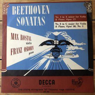LXT 2752 Beethoven Violin Sonata Nos. 4 & 8