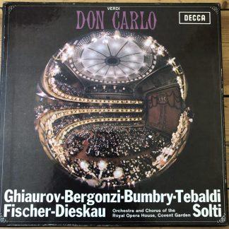 SET 305-8 Verdi Don Carlo / Ghiaurov / Solti / ROHO etc. W/B 4 LP box