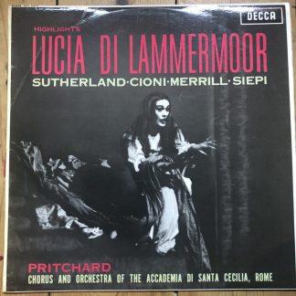 SXL 2315 Donizetti Lucia di Lammermoor (highlights) / Sutherland etc. W/B