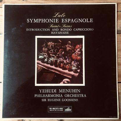 ASD 290 Lalo Symphonie Espagnole Saint-Saens Intro & Rondo Havanaise Menuhin S/C