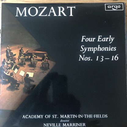 ZRG 594 Mozart Four Early Symphonies Nos. 13-16