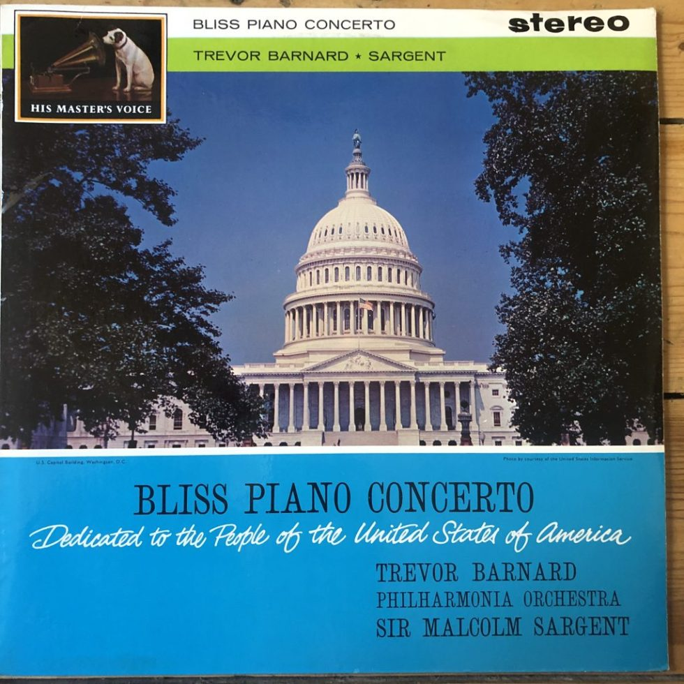 ASD 499 Bliss Piano Concerto / Barnard / Sargent / Philharmonia W/G