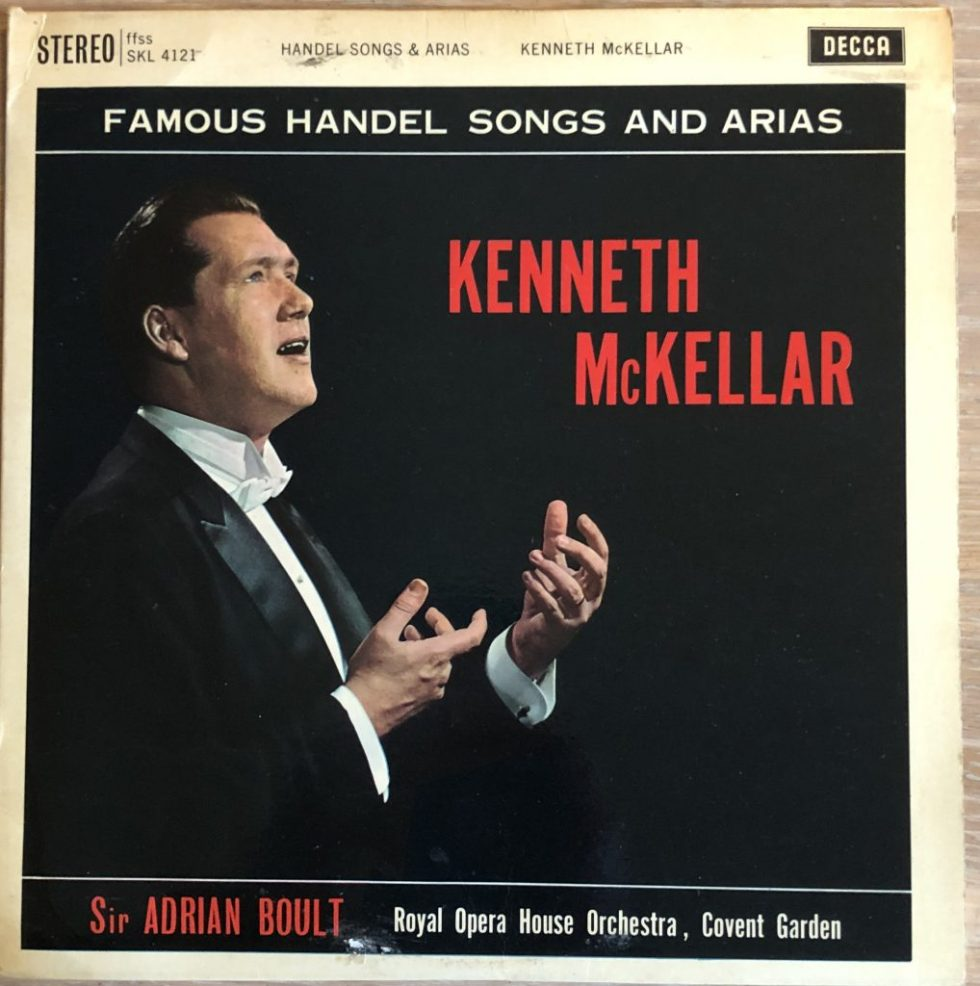 SKL 4121 Kenneth McKellar Handel Songs and Arias W/B