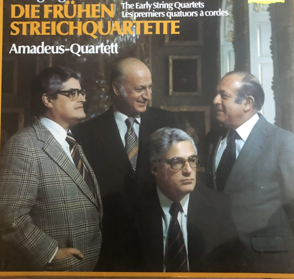 2740 165 Mozart The Early String Quartets / Amadeus Quartet 4 LP box
