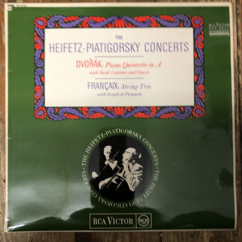 SB 6745 Dvorak Piano Quintet in A etc. / Heifetz / Piatigorsky etc. GROOVED O/S