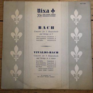 HLP 1024 Bach Concerto For 3 Harpsichords