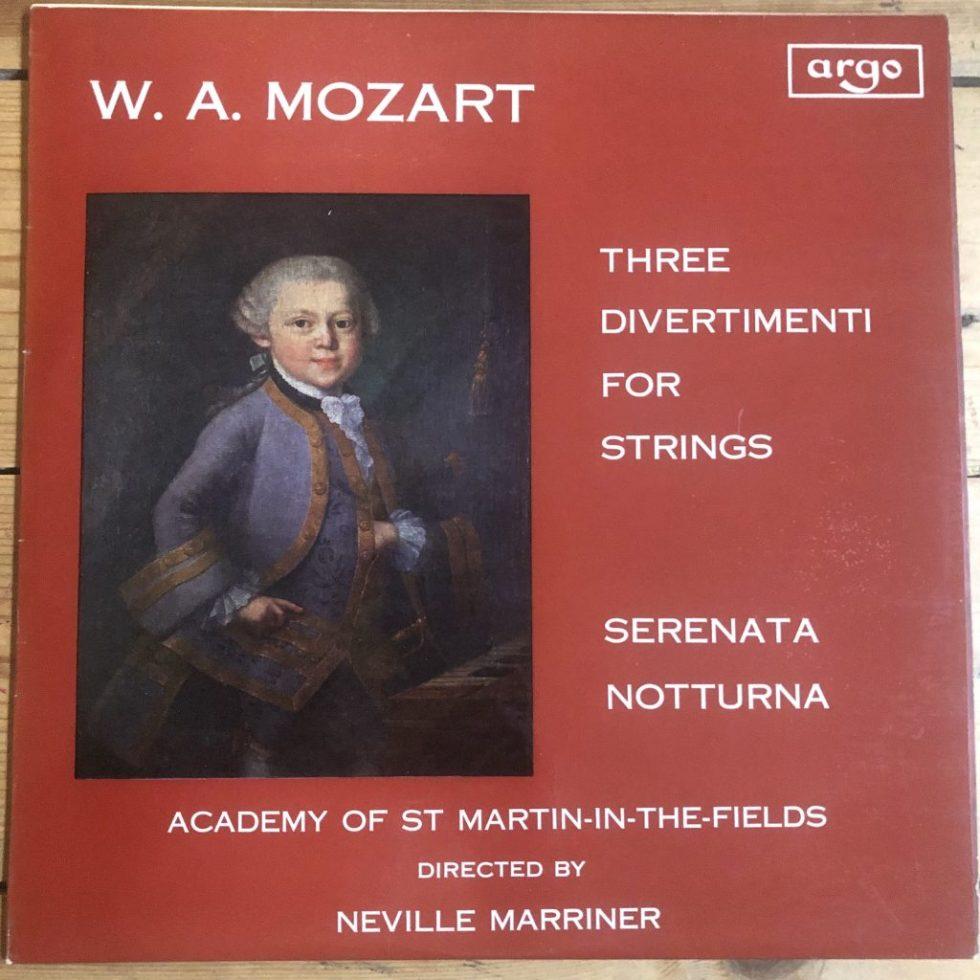 ZRG 554 Mozart Divertimenti Serenata Notturna