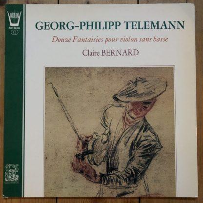 ARN 38468 Telemann 12 Fantasies for Solo Violin / Claire Bernard