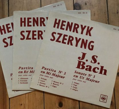 XOC 125-7 Bach Sonatas & Partitas For Solo Violin / Henryk Szeryng