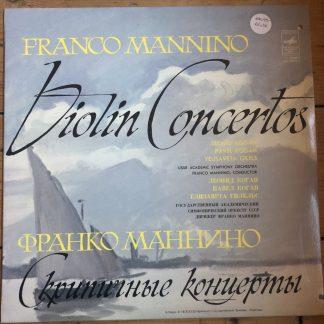 CM 04253-4 Franco Mannino Concertos for 1 & 3 Violins