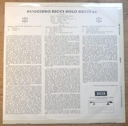 SXL 2240 Ruggiero Ricci Solo Recital W/B