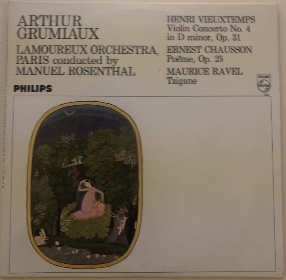SAL 3587 Vieuxtemps Violin Concerto No. 4 etc. / Grumiaux P/S