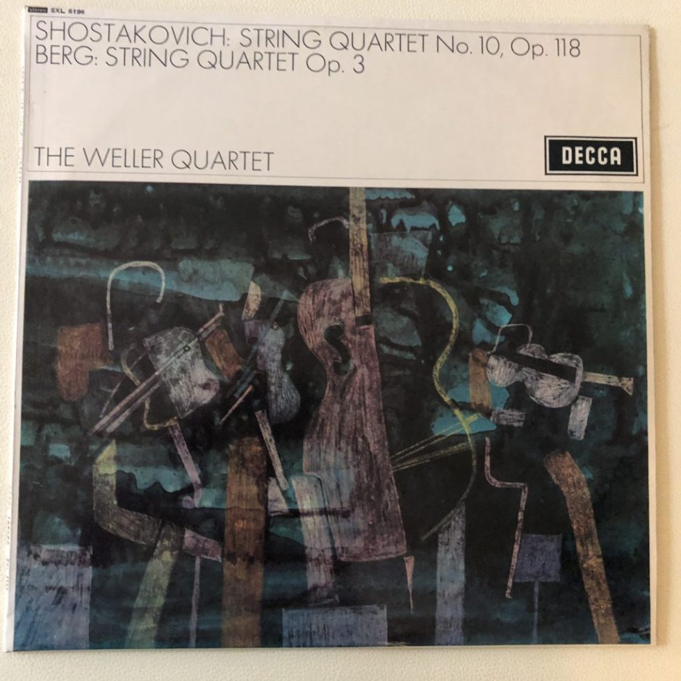 SXL 6196 Berg / Shostakovich String Quartets / The Weller Quartet W/B