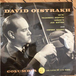 33CX 1246 Lalo Symphonie Espagnole David Oistrakh Philharmonia Jean Martinon B/G
