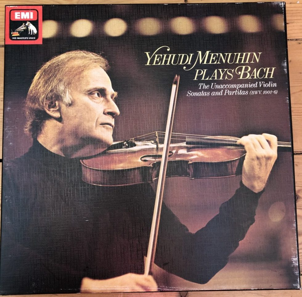 SLS 5045 Yehudi Menuhin plays Bach 3 LP box