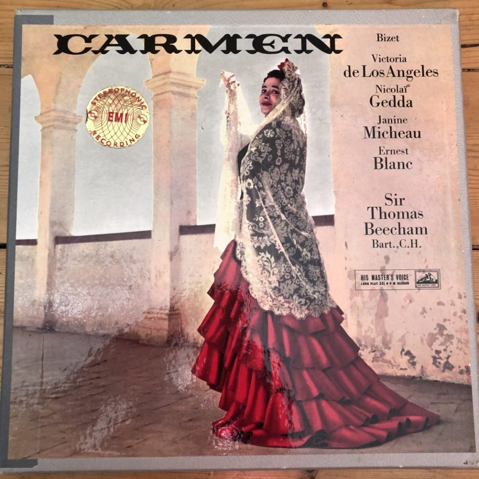 ASD 331-3 Bizet Carmen / de los Angeles / Beecham etc. W/G 3 LP box