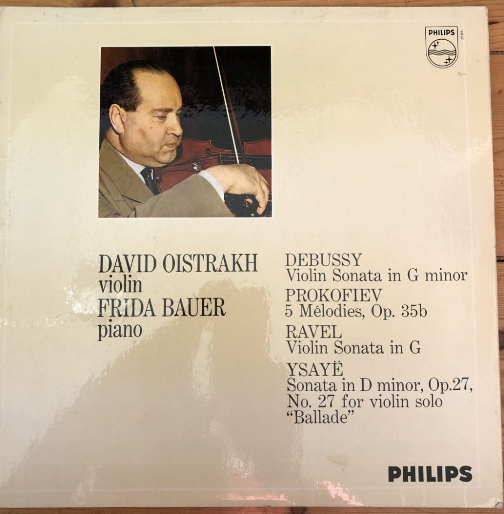 SAL 3589 David Oistrakh plays Debussy, Ravel, Prokofiev and Ysaye
