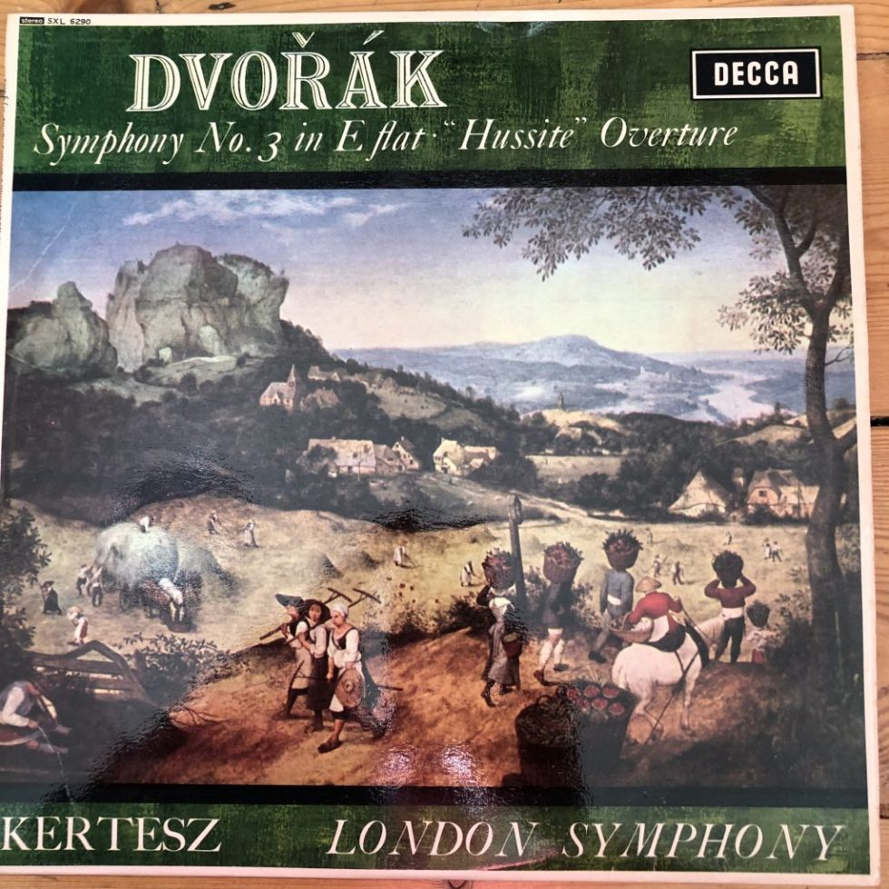 "SXL 6290 Dvorak Symphony No. 3, ""Hussite"" Overture / Kertesz / LSO W/B"
