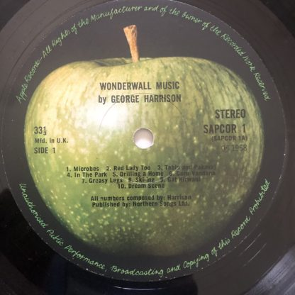 SAPCOR 1 George Harrison Wonderwall 1st pressing