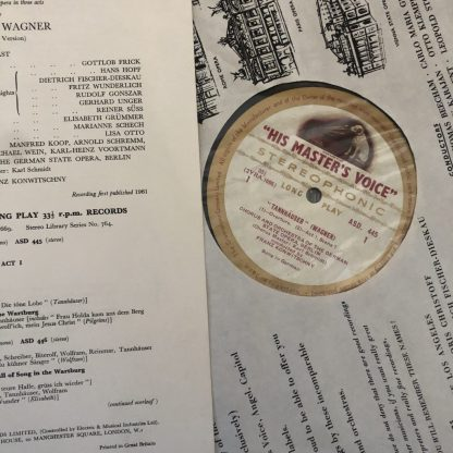 ASD 445-448 Wagner Tannhauser / Grummer / Konwitschny etc. W/G 4 LP box