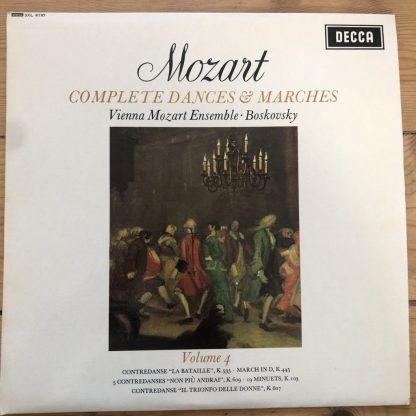 SXL 6197 Mozart Complet Dances & Marches Vol. 4 / Boskovsky W/B