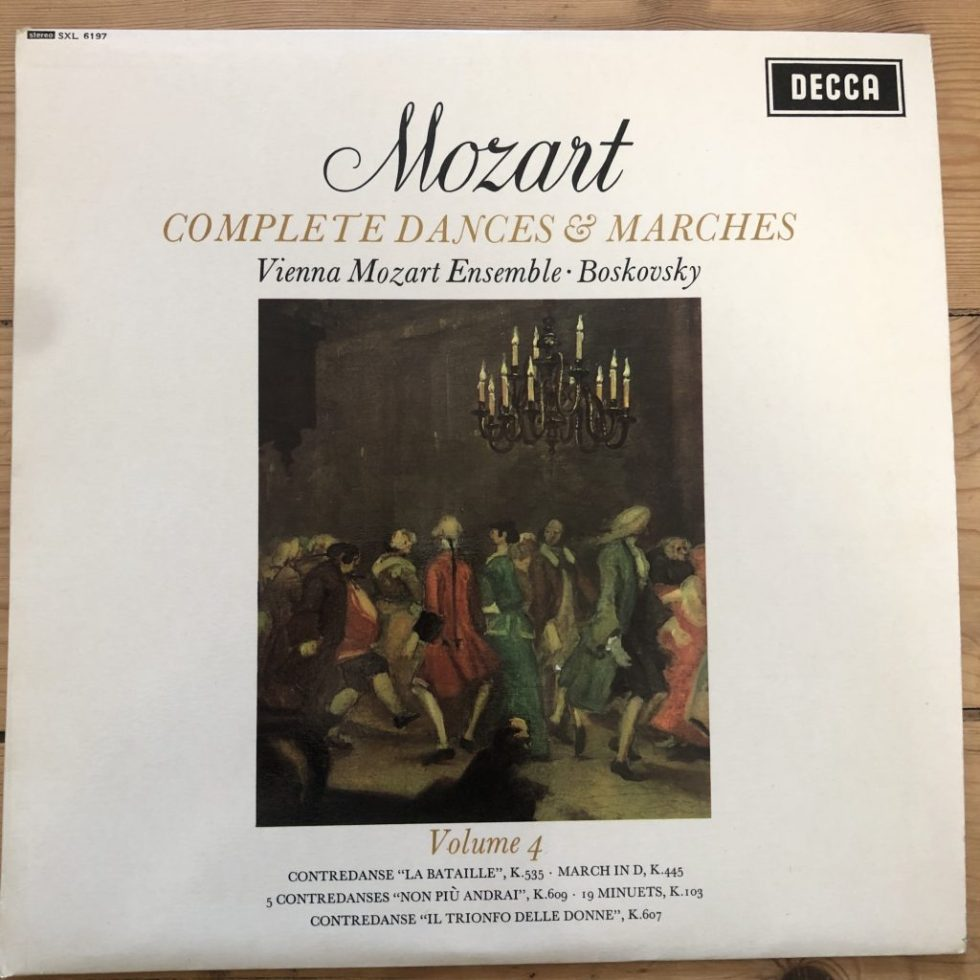 SXL 6197 Mozart Complet Dances & Marches Vol. 4 / Boskovsky W/B