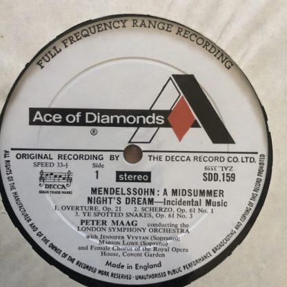 SDD 159 Mendelssohn Midsummer Night's Dream