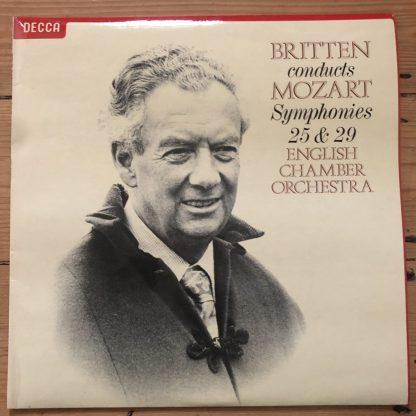 SXL 6879 Mozart Symphonies Nos. 25 & 29 / Britten / ECO